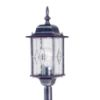 Elstead Wexford WX4 Black/Silver Exterior Pillar Light